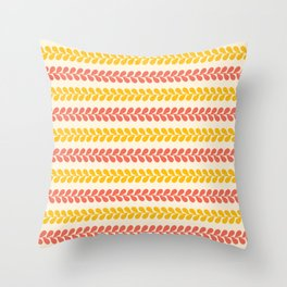 Pretty Petals in Coral Throw Pillow
