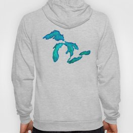 watercolor Great Lakes Hoody