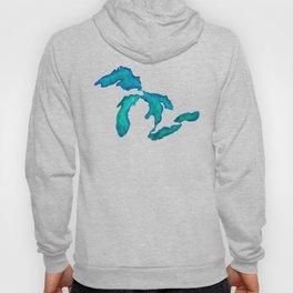 watercolor Great Lakes Hoody