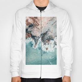 Ocean Print, Ocean Art, Printable Art, Waves Print, Ocean Rocks, Aerial Photography, Coastal Ocean Printable Wall Art Hoody