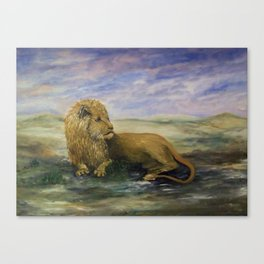King of the Land- Leo the Lion Canvas Print