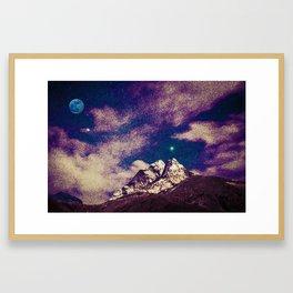 Himalayas under stars Framed Art Print