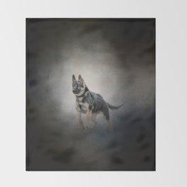 Feet First - German Shepherd Puppy Throw Blanket