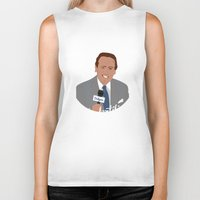 scully Biker Tanks featuring Vin Scully by Eric J. Lugo