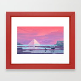 Ocean Pyramid Framed Art Print