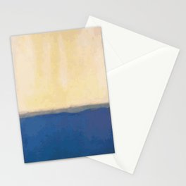 Plain color blue and white art print Stationery Cards