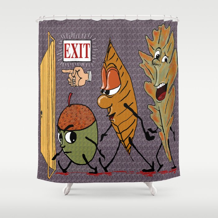Fall Leaves Shower Curtain By Amygale