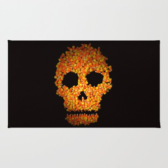 Candy Corn Skull Rug