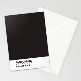 PANTOMIME - almost back Stationery Cards