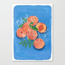 Peach Love Fruit - Call Me By Your Name Canvas Print