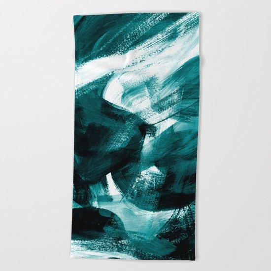 Abstract Artwork Petrol #1 Beach Towel