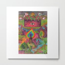 Rpg Map! Dungeons and Eyes and Dragons Metal Print
