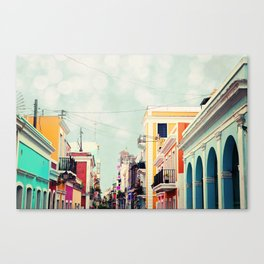 Colorful Buildings of Old San Juan, Puerto Rico Canvas Print
