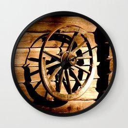 Old Cartwheel #decor #society6 Wall Clock