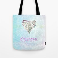 celestial Tote Bags featuring Celestial by Peta Herbert