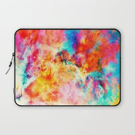 Colorful Abstract Nebula Laptop Sleeve