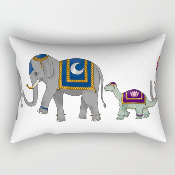 Elephant Parade Rectangular Pillow