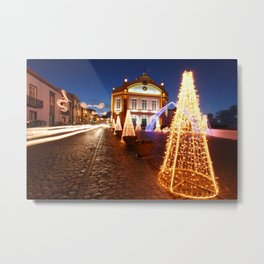 Christmas in Ribeira Grande Metal Print