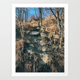 The collapsed road Art Print