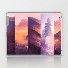 Mountains and Forest Trees - Purple Mountain Wildfire Smoke Tree Laptop & iPad Skin