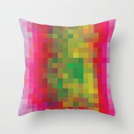 Digital Patchwork: Fuchsia Throw Pillow