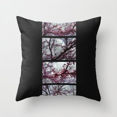 Under the trees: early spring Throw Pillow