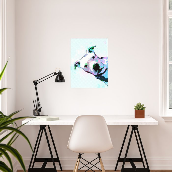 Pit bull - Puzzled - Pop Art Poster