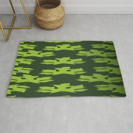 Maple Flowers Pattern Green Plant Rug