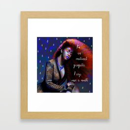 Cardi B - emotional gangster quote Framed Art Print