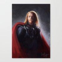 thor Canvas Prints featuring Thor by Angela Taratuta