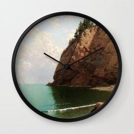 'The Secret Cove' landscape maritime painting Wall Clock