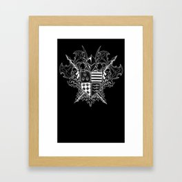 Doom Crest Framed Art Print