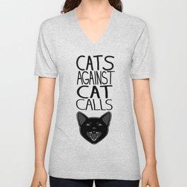Cats Against Cat Calls Unisex V-Neck