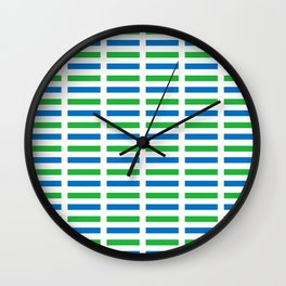 Flag of sierra leone-salone,Sierra Leonean,Leone,Sierra Leona,freetown. Wall Clock