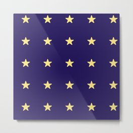 Stars on Navy Blue Metal Print