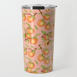 Practice What You Peach - Peaches on Pink Travel Mug
