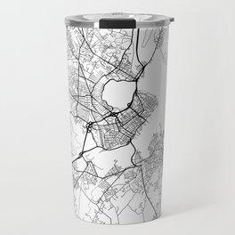 Portland ME Map White Travel Mug