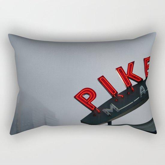 Pike Place Morning Rectangular Pillow
