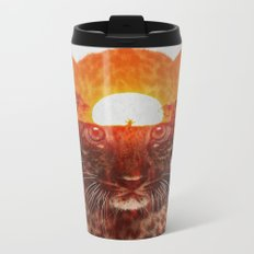 Leopard Cub Metal Travel Mug