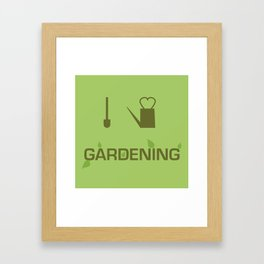 I heart Gardening Framed Art Print
