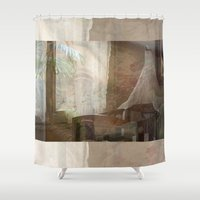 tote bag Shower Curtains featuring Barcelona Dreaming Tote Bag by Irina D. Stanciu