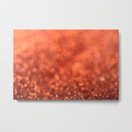 Beautiful Orange Glitter Sparkles Metal Print