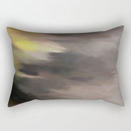 Abstract Touch of Colors. Like Painted on Canvas. Rectangular Pillow