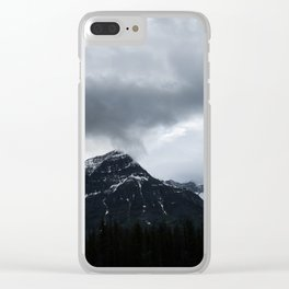 Mountains in Jasper Landscape Minimalism Photography Clear iPhone Case