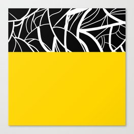 Yellow Zebra Canvas Print
