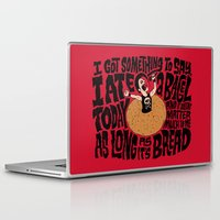 misfits Laptop & iPad Skins featuring Last Bagel Caress by Chris Piascik