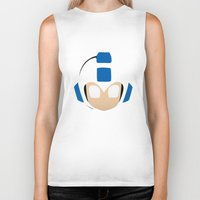 mega man Biker Tanks featuring Mega Man by Sport_Designs