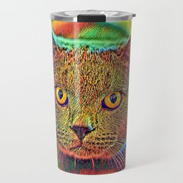 AnimalColor_Cat_ 018_by_JAMColors Travel Mug