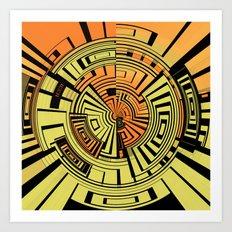 Futuristic technology abstract Art Print