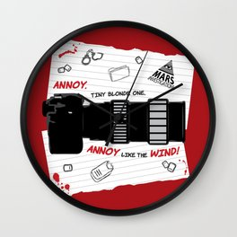 Annoy Tiny Blonde One...  Wall Clock